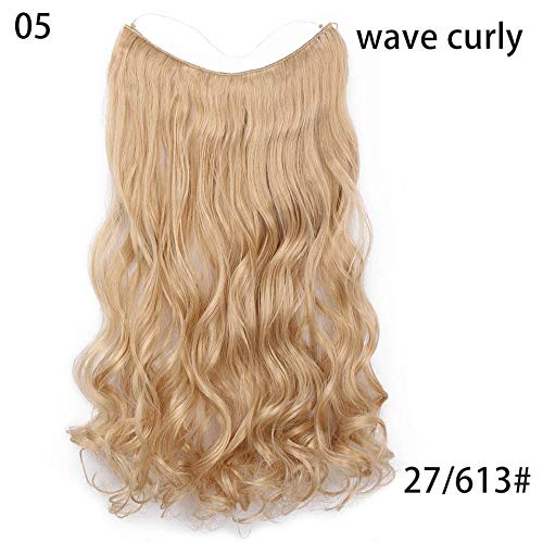 Fish Line Hairpieces 22'' Invisible Wire No Clips In Hair Extensions Secret Silky Straight Synthetic Hairs 100G/Pic #26 22inches for $<!--$8.69-->