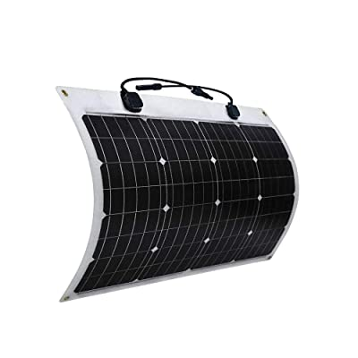 Flexible Solar Panels 50W Lightweight Photovoltaic Module Bendable Monocrystalline for RV Boat Camer : Garden & Outdoor
