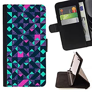 Momo Phone Case / Flip Funda de Cuero Case Cover - Lila - LG G4 Stylus H540