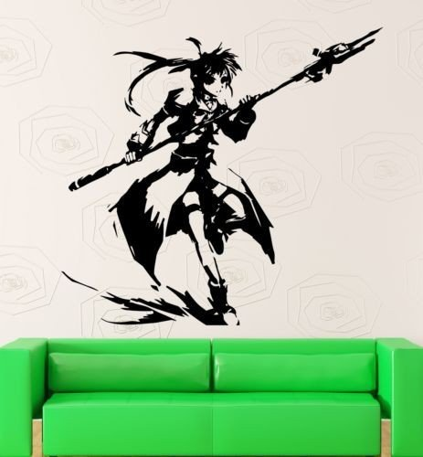 Anime Girl Manga Cartoon Oriental Creative Art Removable PVC Quote Wallpaper For Living Room Decals Murals