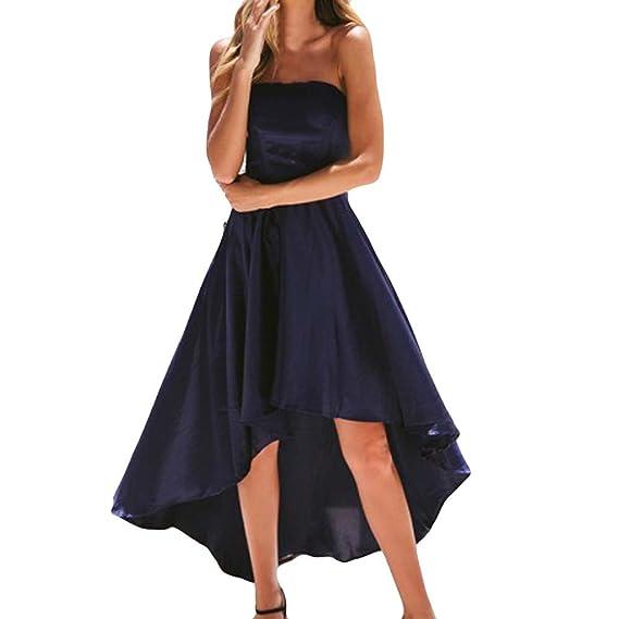 32ed1cbf504 Cinnamou Vestido Sin Hombros Largo Mujer Estampado de Flores Maxi Boho  Verano con Cuello en V