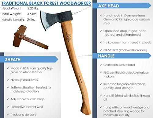 1844 Helko Werk Germany Black Forest Woodworker Axe The Gardening