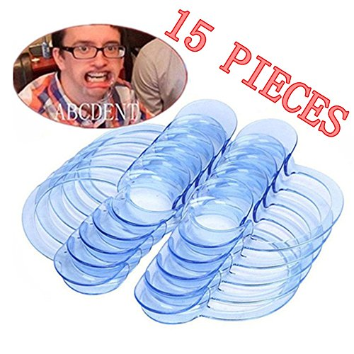 WensLTD Dental Cheek Retractor C Shape Intraoral Lip Retractor Mouth Opener for Adult&kids, 15 Pack