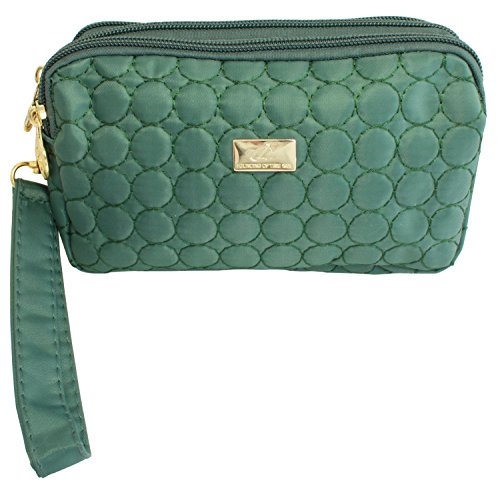 BDJ Quilted Fabric Wristlet Purse Wallet Smartphone Pouch Mi
