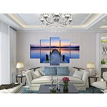 living room with bridge amazoncom pulsatingfingertip 2017 modern seascape canvas print