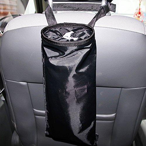 Car Vehicle Back Seat Headrest Litter Trash Garbage Bag, AICase Auto Seat Back Litter Bag Car Organizer (Standard, (Bling Garbage Can)