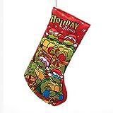 Kurt Adler Retro Teenage Mutant Ninja Turtles Holiday Heroes Applique Stocking