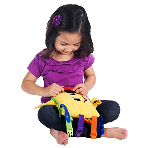 "BUCKLE TOY ""Bongo"" – Toddler Early Learning Basic Life Skills Children's Plush Travel Activity"