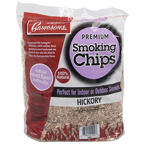 Camerons Products Smoking Chips - (Hickory) Kiln Dried, Natural Extra Fine Wood Smoker Sawdust Shavings - 2 Pound Bag Barbecue -