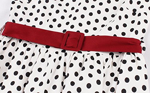 Eleganti Swing Biilyli Cocktail Cerimonia Donna Elegante nbsp;vestito Manica Corta Rosso Vestiti Vestito Vintage wPrPqUt