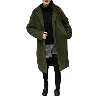 2d4d610f84e70 SANFASHION Trench Femme,Vetements Élégant Trench-Coats Chaud Jacket Revers  Splice Manteau Slim Parka