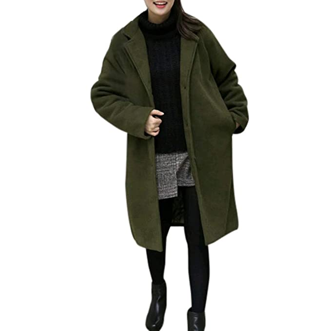 Linlink Mujeres cálida Chaqueta Gruesa Casual Outwear Chaqueta Cardigan Abrigo Slim Coat