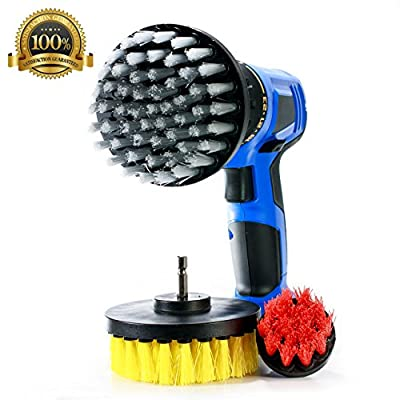 Power Scrubbing Brush Drill Attachment for Cleaning Showers, Tubs, Bathrooms, Tile, Grout, Carpet, Tires, Boats