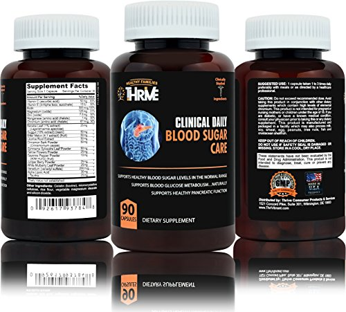 CLINICAL DAILY Blood Sugar supplement. Natural Glucose Metabolism support in advanced formula. With Biotin, Banaba Leaf, Alpha Lipoic Acid, essential minerals Vanadium, Magnesium, Zinc. 90 capsules (Leaf Extract Banaba)