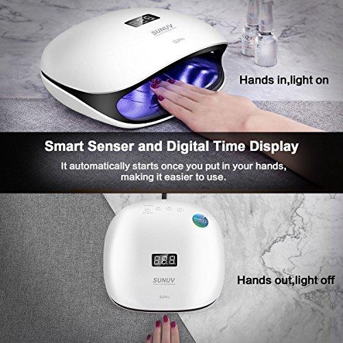 SUNUV 48W UV LED Light Lamp Nail Dryer for Gel Polish with Auto Sensor Professional Nail Art Tools