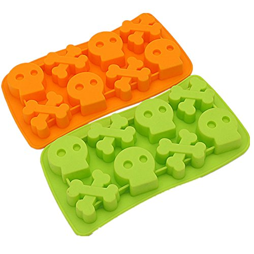 Skeletons Shape 8 Cups Halloween Gift Cake Ice Chocolate Mould Great For Christmas, Parties, Wedding, Birthday, Celebrations, Etc. (Mickey Halloween Party 2017 Map)