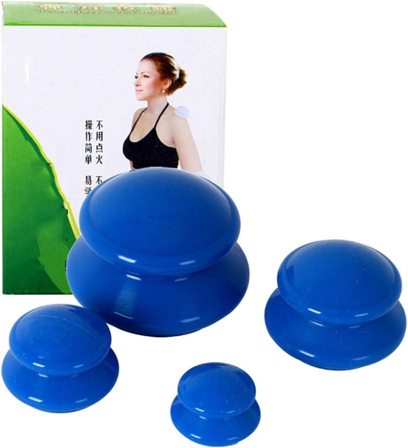QINAIDI Terapia de ahuecamiento de Silicona con 4 presiones negativas, para Alivio de Dolor de articulaciones y músculos, Juegos de Masaje