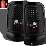 For 1994-2001 Ram 1500, 1994-2002 2/3500 Midnight Black Smoked LED Tail Lights Signal Pair L+R 1995 1996 1997 1998