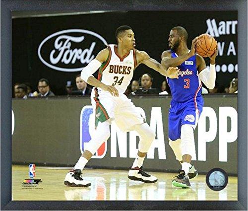 Giannis Antetokounmpo Milwaukee Bucks Nbaアクション写真(サイズ: 17 cm x 21 cm )フレーム   B01DKZQISE