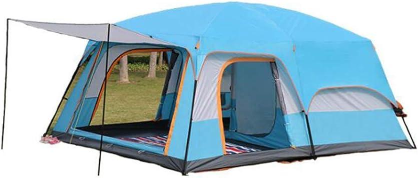 MIRAGE WWAVV Tienda de campaña Impermeable para 2 dormitorios, 8 Personas, 10 Personas, 12 Personas, Tienda de campaña para Camping para múltiples Personas, antitormentas, Tienda de campaña, Azul: Amazon.es: Deportes y aire libre