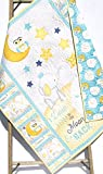 Baby Quilt Homemade I Love You to the Moon and Back Boy or Girl Unisex Gender Neutral Blanket Crib Bedding Nursery Décor Infant Child Quality Handmade