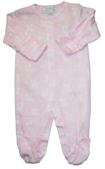 6e42b386c Kissy Kissy Baby-Girls Infant Giraffe Kins Print Footie-Pink and White-9