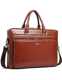 95444266a217 Leather Briefcase Shoulder 15.6