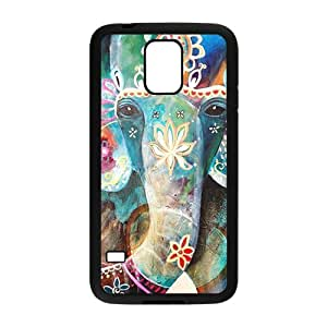 Colorful flowers elephant Cell Phone Case for Samsung Galaxy S5