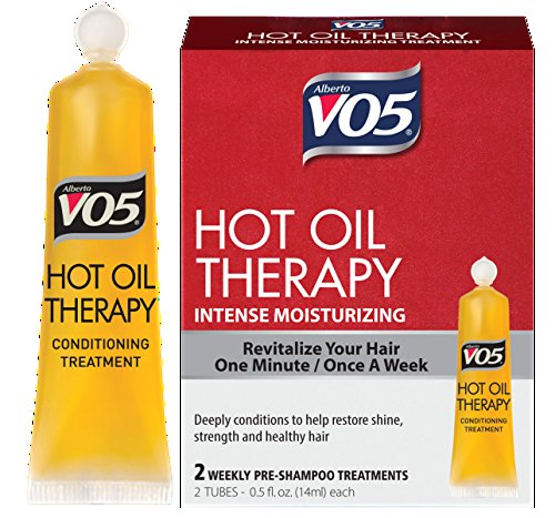 Alberto Vo5 Hot Oil Intense Conditioning Treatment , 0.5 Ounce, 2-count Tubes (Pack of 3) (Spa Vo5)