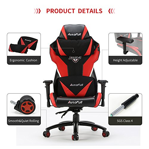 Gaming Chair Autofull Video Game Chair Breathable Mesh