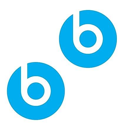 Amazon Two Dr Dre Beats Die Cut Sky Blue Logo Decal Sticker 3