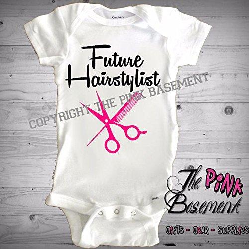 3a103820ecd1 Amazon.com  HANDMADE Babies Onesies Future Hairstylist Pink Boys ...