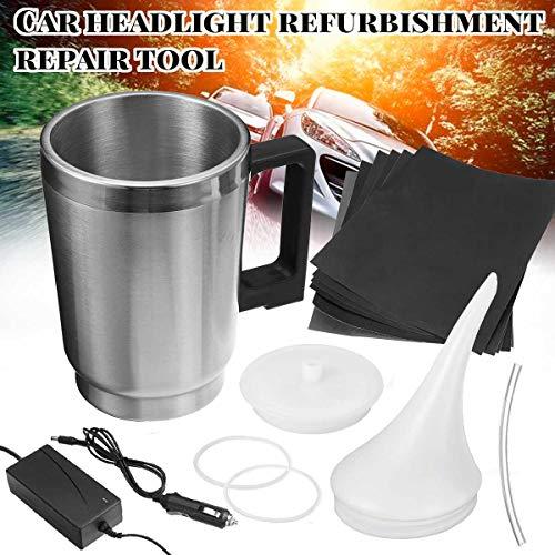 Carvicto - 2 Styles Cover Car Headlight Refurbished Electrolytic Atomized Cup Headlamp Repair Liquid Repair Tool