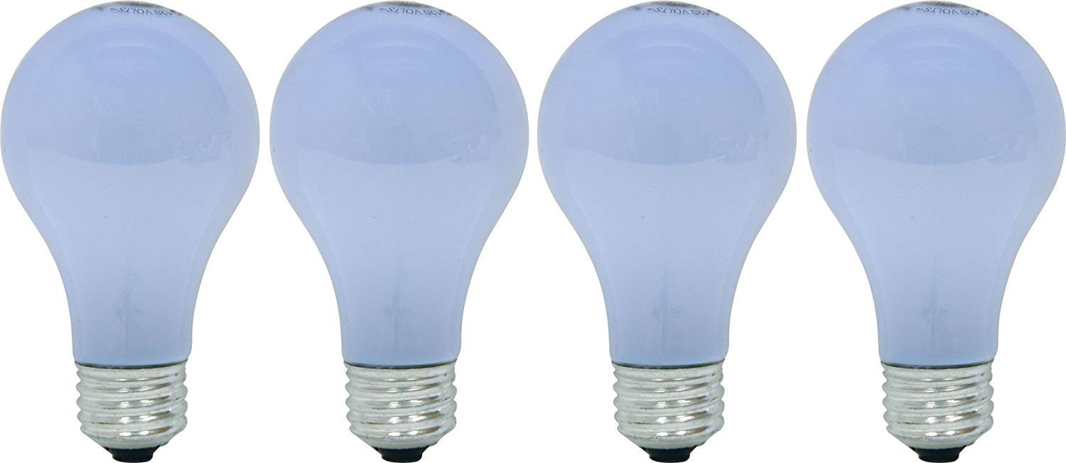 GE Lighting 67770 Reveal 43-Watt, 565-Lumen A19 Light Bulb with Medium Base, 4-Pack