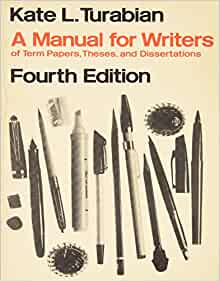 kate turabians a manual for writers of term papers theses and dissertations (5th edition) Kate l turabian, author of one of the most widely read stylebooks  the  pamphlet eventually became a book called ''a manual for writers of term papers,  theses, and dissertations'' and it has sold more than five million copies in five  editions  what if trump did actually shoot someone on fifth avenue.