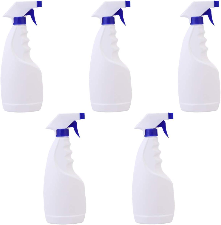 iplusmile 5 Piezas Botella de Spray Vacía de Plástico Resistente Dispensador de 500 Ml Botella Atomizadora Botella de Spray para Jardín Cocina Hogar