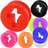 5/8 Inch gauges ear plugs silicone flesh tunnels double flare expander stretcher taper MoDTanOiz 16mm