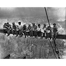 Quality digital print of a vintage photograph -Lunch Atop A Skyscraper, New York 1932. Black & White 8x10 inches - Luster Finish