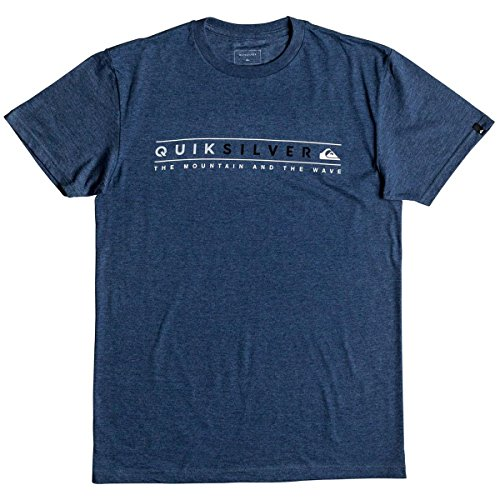 Quiksilver Men's Always Clean T-Shirt, Dark Denim Heather, L