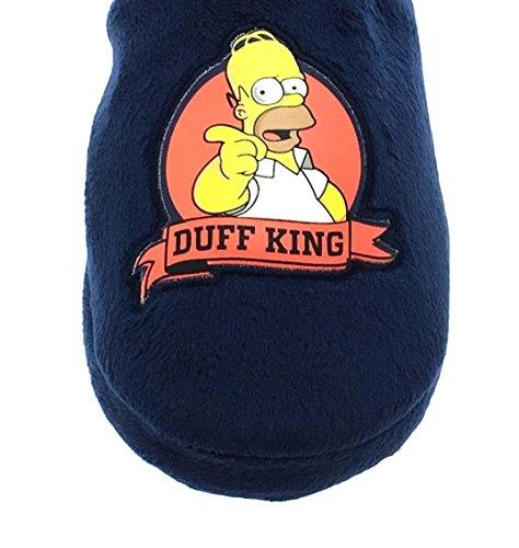 Mens Slip Duff Beer Full On Velour Slipper Simpsons Novelty 6qx0rwH6v