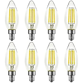 Led B10 B11 Candelabra Light Bulbs Daylight 5000k E12