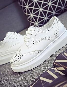 moda-Zapatillas mujer Sneakers-Casual-Punta redondeada Zeppa-- -imitación de