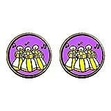 GiftJewelryShop Bronze Retro Style Religion Christian Church Choir Photo Clip On Earrings 14mm Diameter