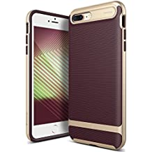 Caseology Wavelength Series iPhone 7 Plus / 8 Plus Cover Case with Pattern Slim Protective for Apple iPhone 7 Plus (2016) / iPhone 8 Plus (2017) - Burgundy