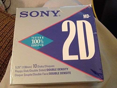 Sony MD-2DA Double-Sided Double Density 500KB 5.25'' Floppy Disks (10-Pack) by Sony