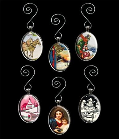 Amazon.com: Make Your Own Glass Photo Christmas Ornaments Kit 6 ...