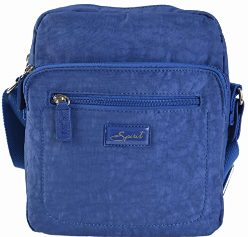 SPIRIT VIAGGIO A TRACOLLA Organiser spalla maglia zip Borsa a mano stile 5766 ( blu reale)
