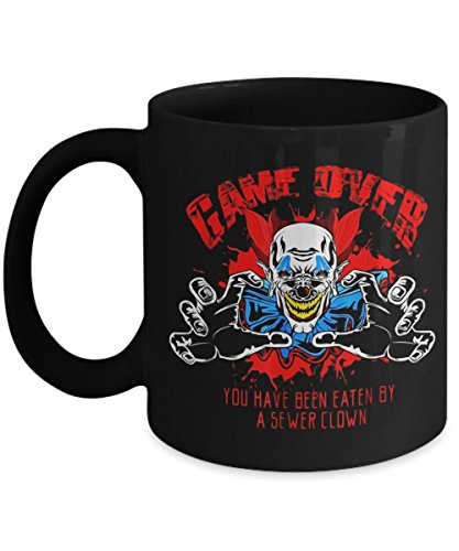 Game Over, Evil It Clown Sewer Scary Halloween - Funny Happy Halloween Day Coffee Mug Gift Coffee Cup Mugs - Halloween Great Gifts Idea for Him, Men, -
