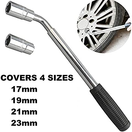 Quality Wheel Brace Tool Car Multi Fit Sizes Tyre Change Over Flat Tyre Spanner