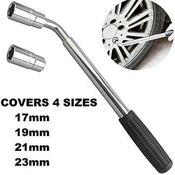 Extensible telescópica rueda llave/extensible rueda Brace Llave 17 mm/19 mm/21 mm/23 mm - auto/moto/coche accesorios tuerca Brace Socket coche Van Camión: ...